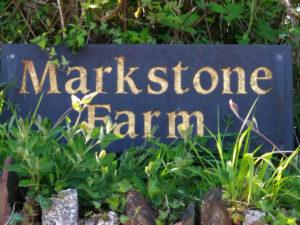 Markstone Farm slate sign - markstonefarm.co.uk